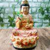 Tôn Tượng Quan Thế Âm Bồ Tátcó chiều cao 21 cm, kích thước nhỏ gọn, thích hợp để thờ trên Ban Tam Bảo nhà bạn hoặc phòng khách ở vị trí cao, trang nghiêm, thanh tịnh.