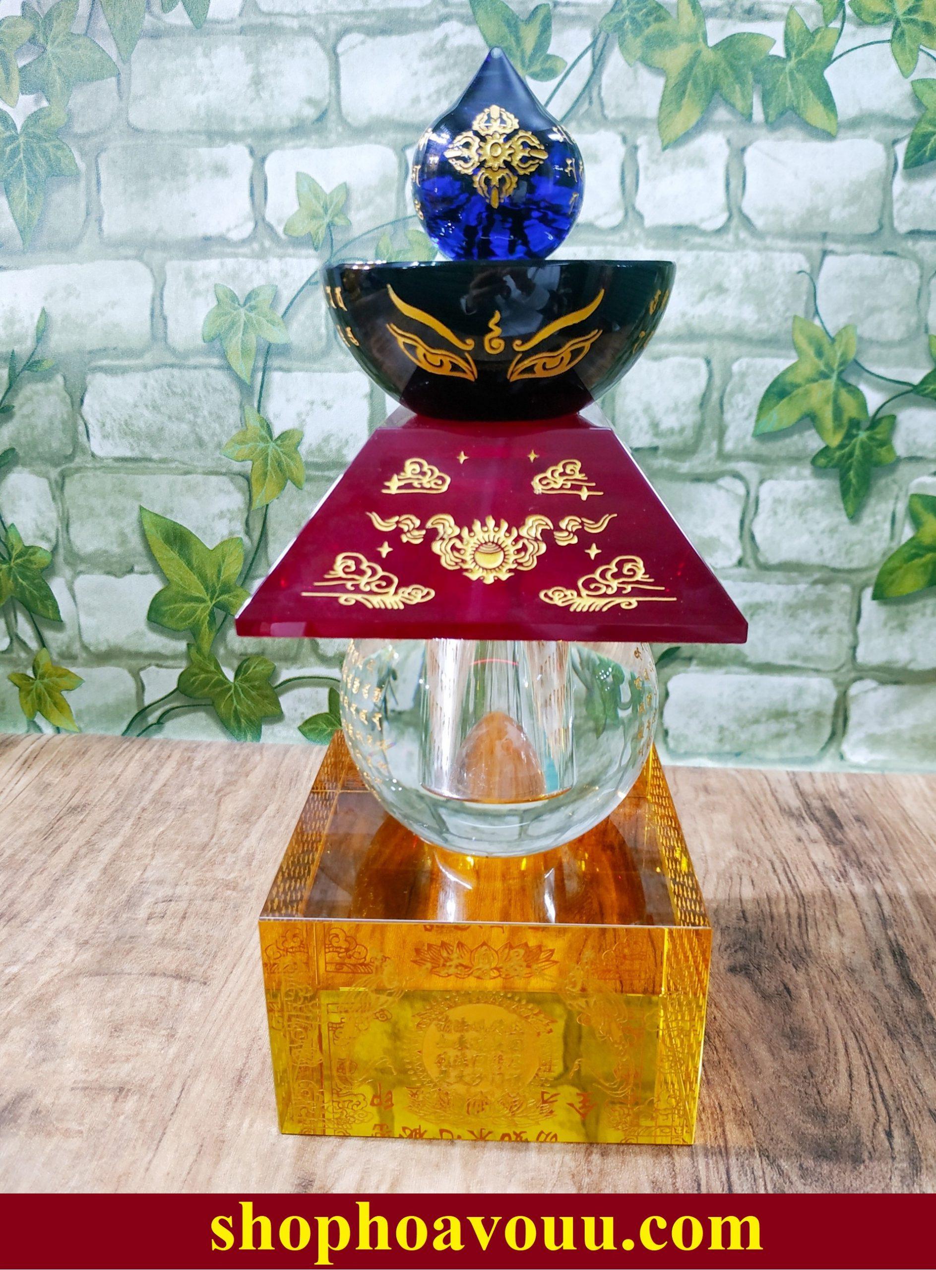 Tháp xá lợi trở thành biểu tượng của sự linh thiêng, bình an, may mắn cho gia chủ