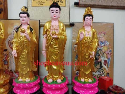 Địa chỉ bán tượng Phật Tây Phương Tam Thánh đầy đủ, chất lượng
