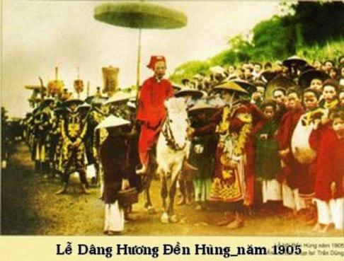 Lễ dâng hương đền Hùng năm 1905
