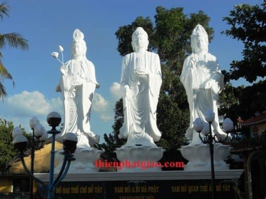 Tôn Tượng Tây Phương Tam Thánh tại chùa Nghĩa Phú