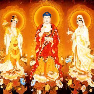Tây Phương Tam Thánhgồm ba vị Phật đại diện cho những đức hạnh tốt đẹp mà chúng ta luôn hướng tới.