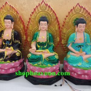 Bộ Tượng Thất Phật Dược Sư 60 cm Có Hào Quang