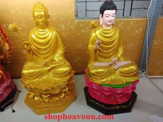 Tượng Phật Thích Ca Niêm Hoa cao 50 cm tại Shop Hoa Vô Ưu