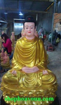 Tượng Bổn Sư Thích Ca Mâu Ni Phật 1m2