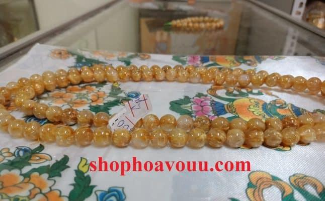 Thạch Anh Tóc Vàng 108 Hạt 8 Li tại Shop Hoa Vô Ưu