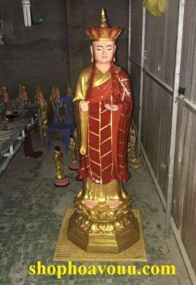 Tượng Địa Tạng Bồ Tát đứng cao 1m5