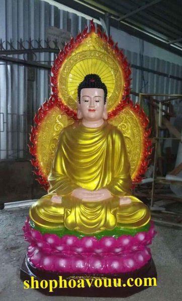 Tượng Bổn Sư Thích Ca Mâu Ni Phật 1m2 đẹp