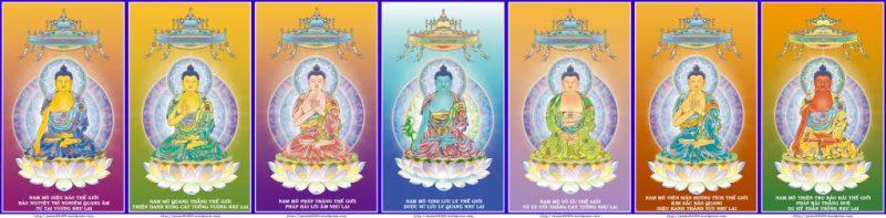 Hình tướng cùng danh hiệu của Bảy Vị Phật Dược Sư