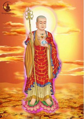 Địa Tạng Vương là vị Bồ tát hiện thân trong Lục đạo để cứu độ mọi chúng sinh