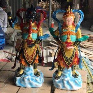 Bộ Hộ Pháp Vi Đà và Tiêu Diện 70cm