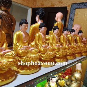 BộTượng Phật Dược Sư 30 cm Sen Vàng