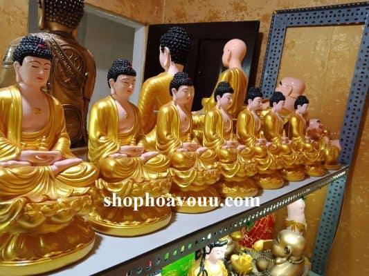 BộTượng Phật Dược Sư 30 cm Sen Vàng tại Shop Hoa Vô Ưu