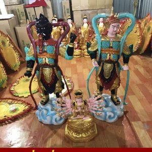 Tượng Hộ Pháp Vi Đà và Tiêu Diện Đại Sĩ cao 90cm