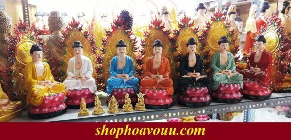 Tượng Phật Dược Sư 7 màu 40cm