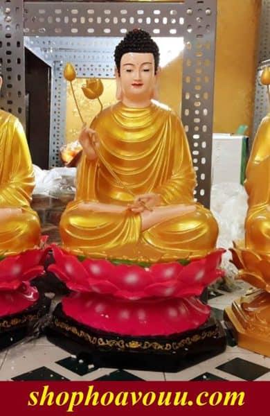 Tượng Phật Bổn Sư Niêm Hoa 70cm