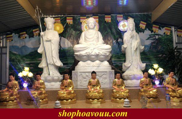 Tượng Phật Dược Sư 65cm 7 thế tay