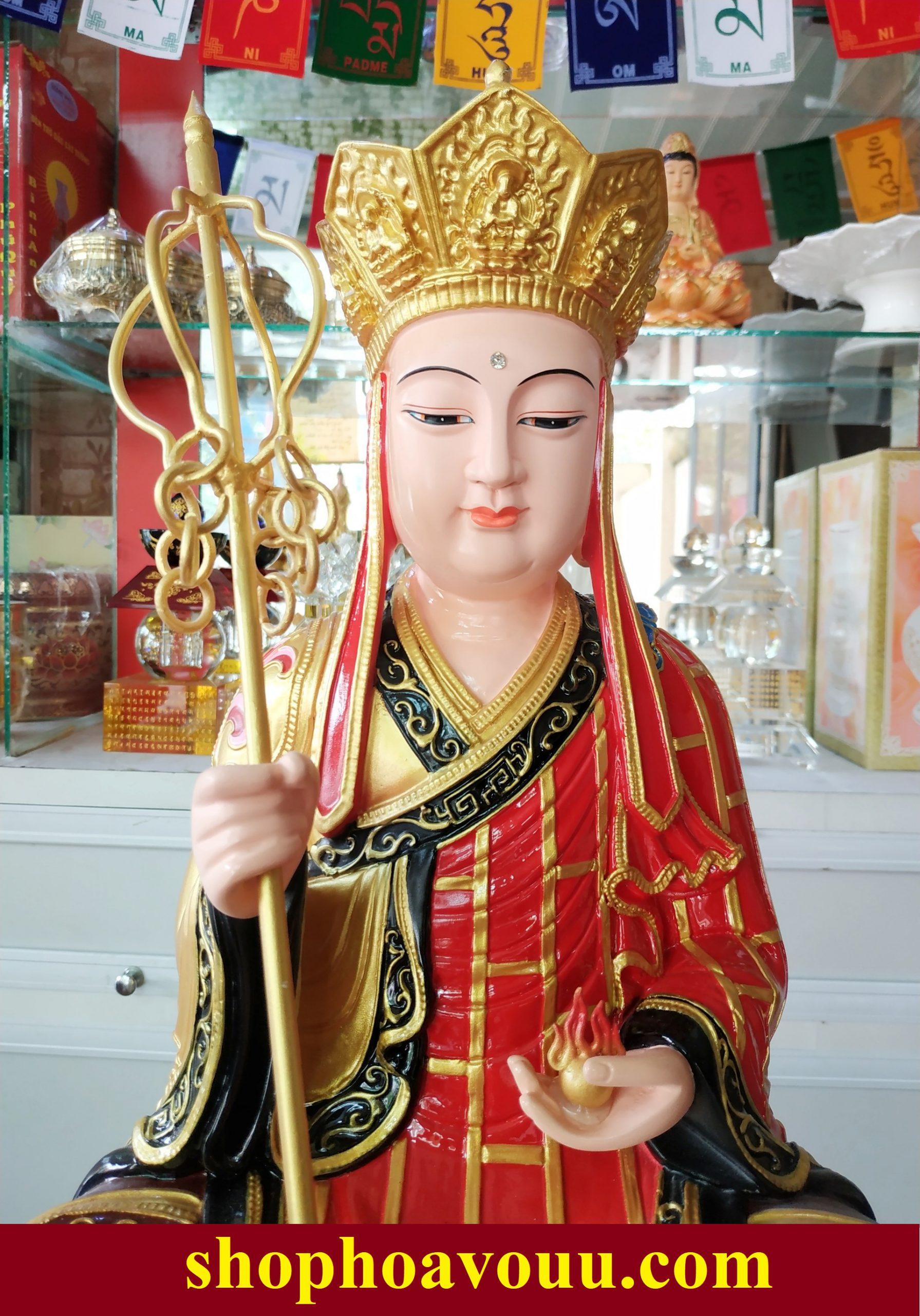 Tượng Địa Tạng Vương Bồ Tát Sắc Tướng Trang Nghiêm Ngồi 50cm
